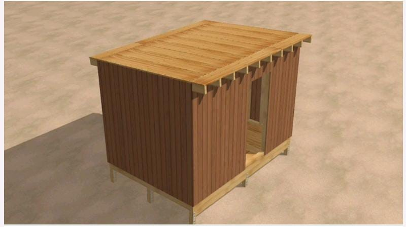 Add Wooden Plywood to Cover the Walls