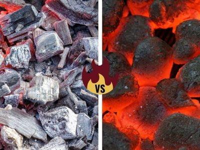 Hardwood Charcoal vs Charcoal Briquettes
