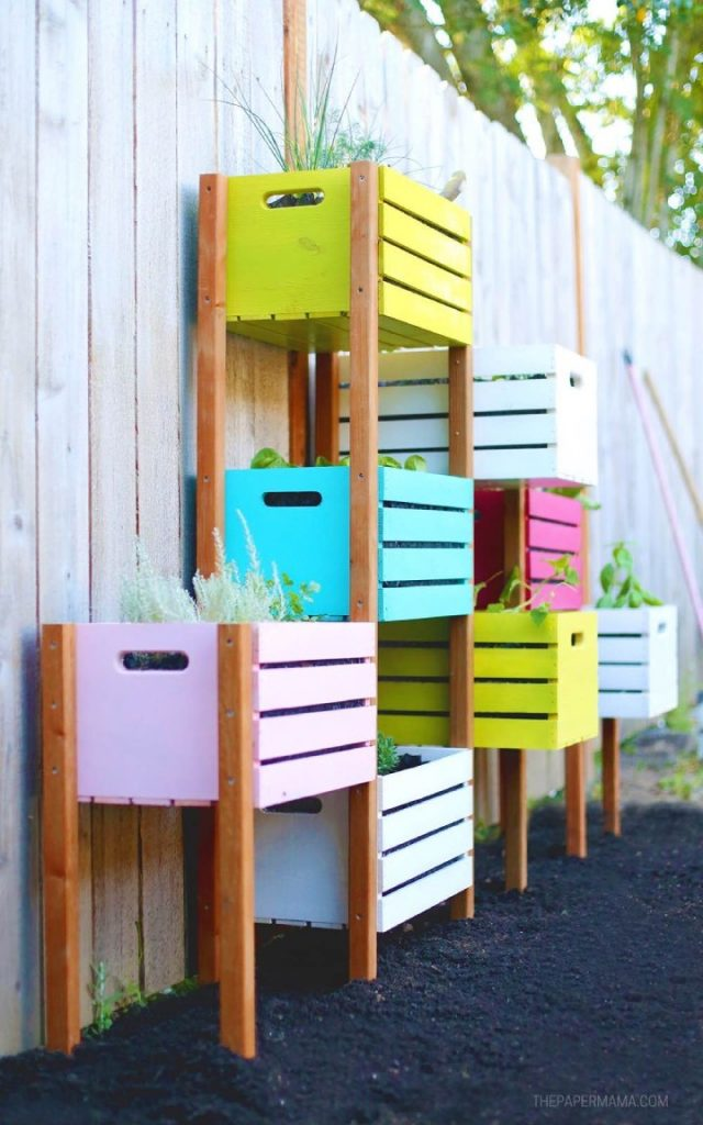 Quirky and Colorful Crates