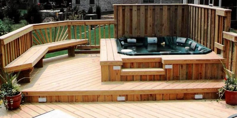 Will a Wooden Deck Support Hot Tub